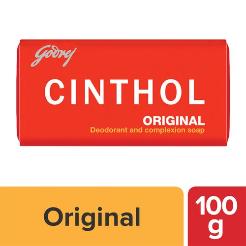 Cinthol Original Bath Soap – 99.9% Germ Protection, 100 g Carton
