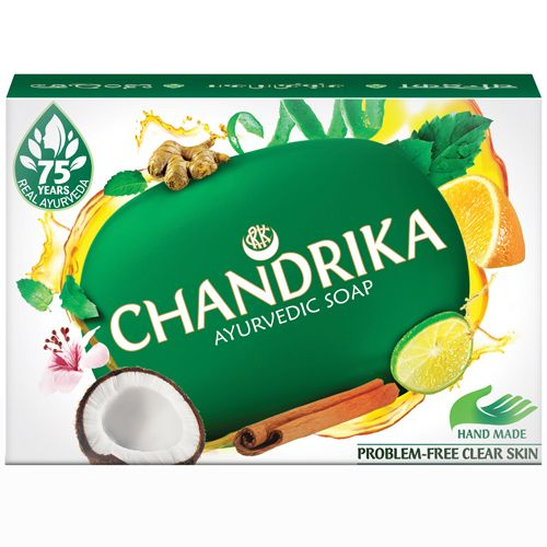 Chandrika Bathing Soap – Ayurvedic, 75 g