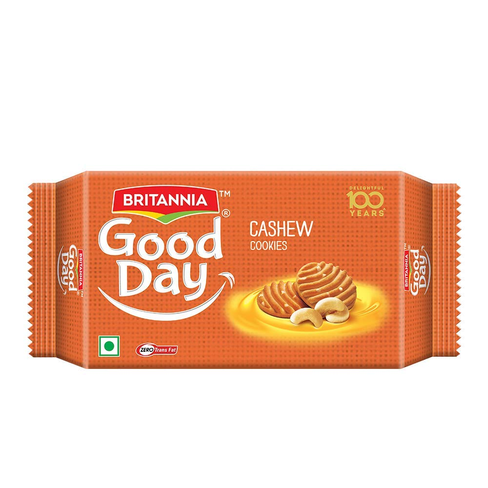 Britannia Good Day Cashew Cookies 200gms.
