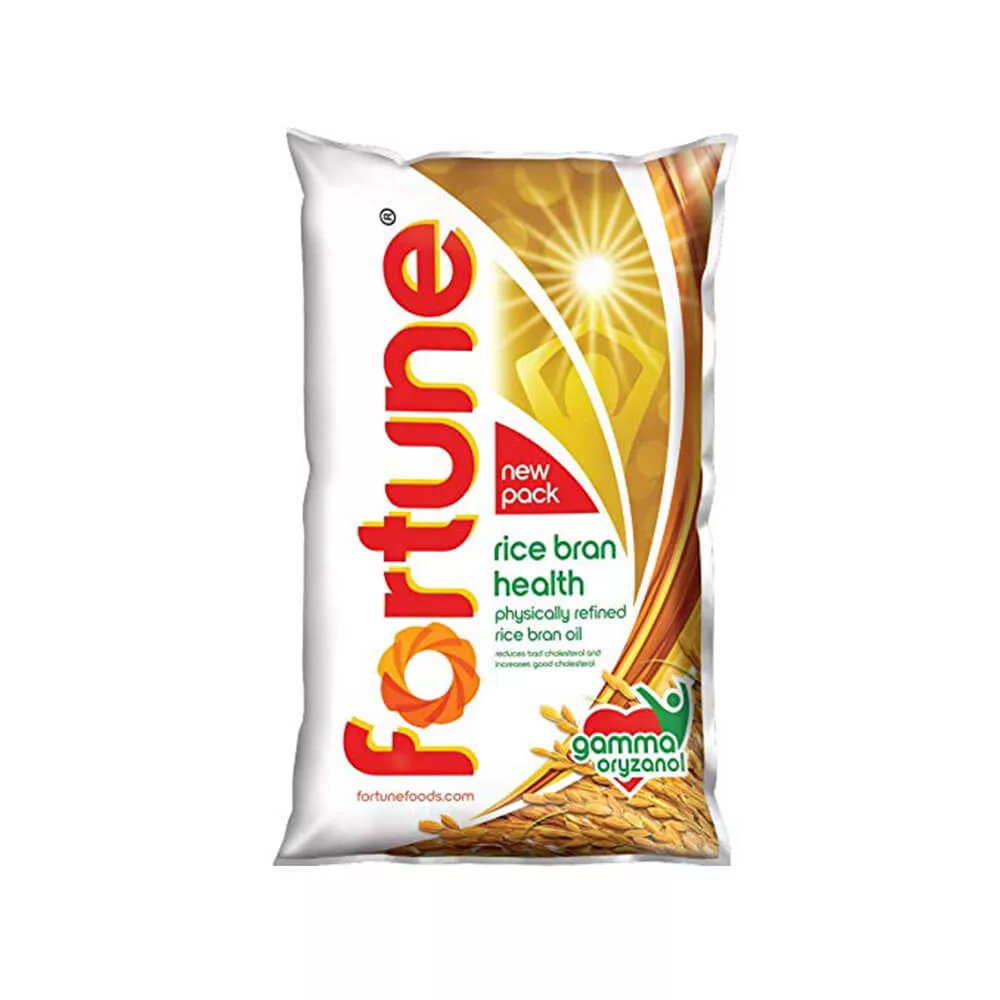 Fortune Rice Bran Oil, 1 L Pouch