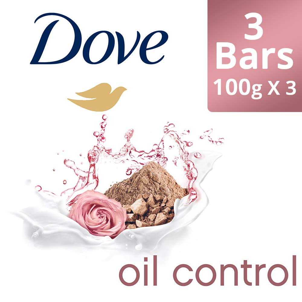 Dove Go Fresh Oil Control Moisturising Soap, 100 g (Pack of 3) with Pack of 3
