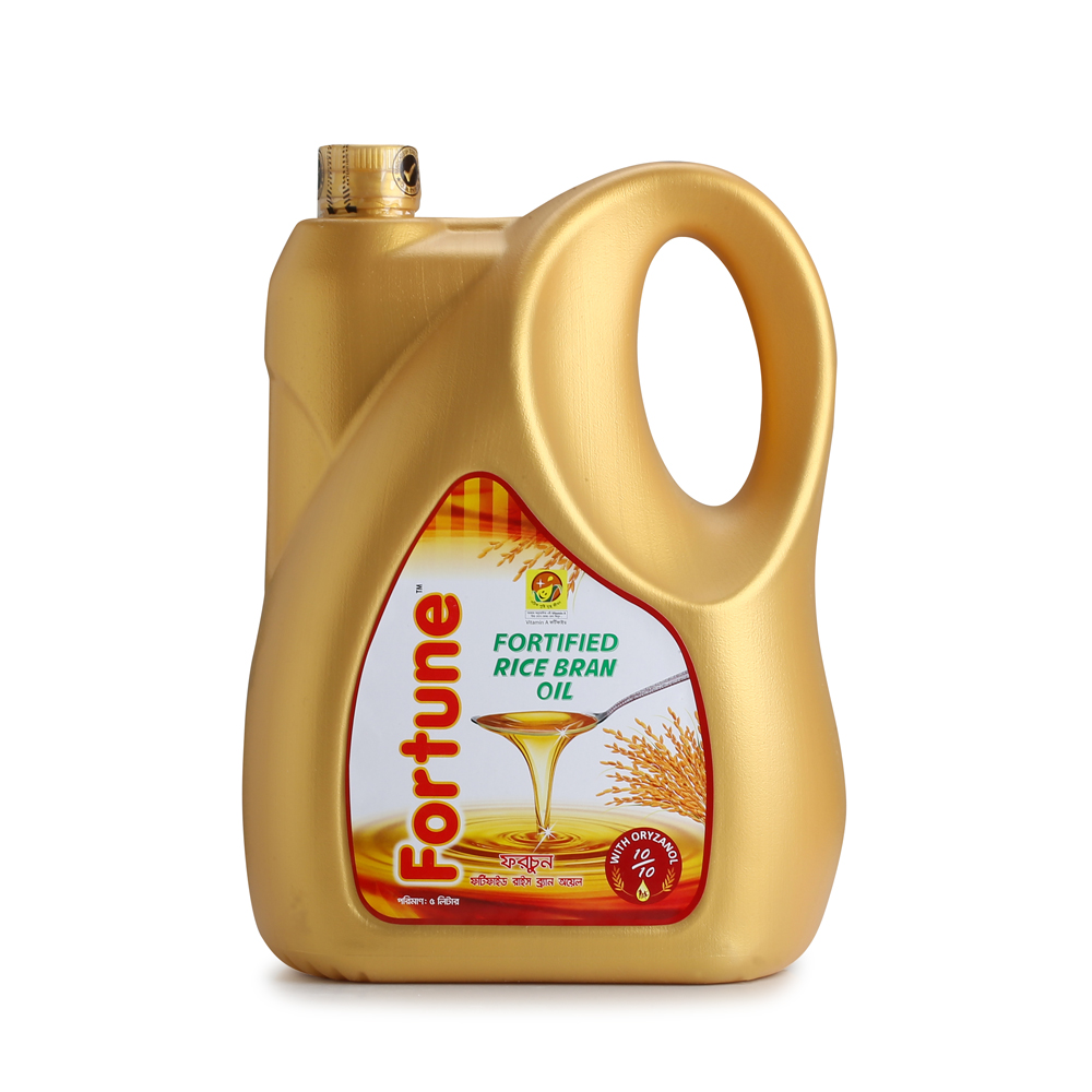 Fortune Refined Oil ‰ÛÒ Rice Bran, 5 L Can
