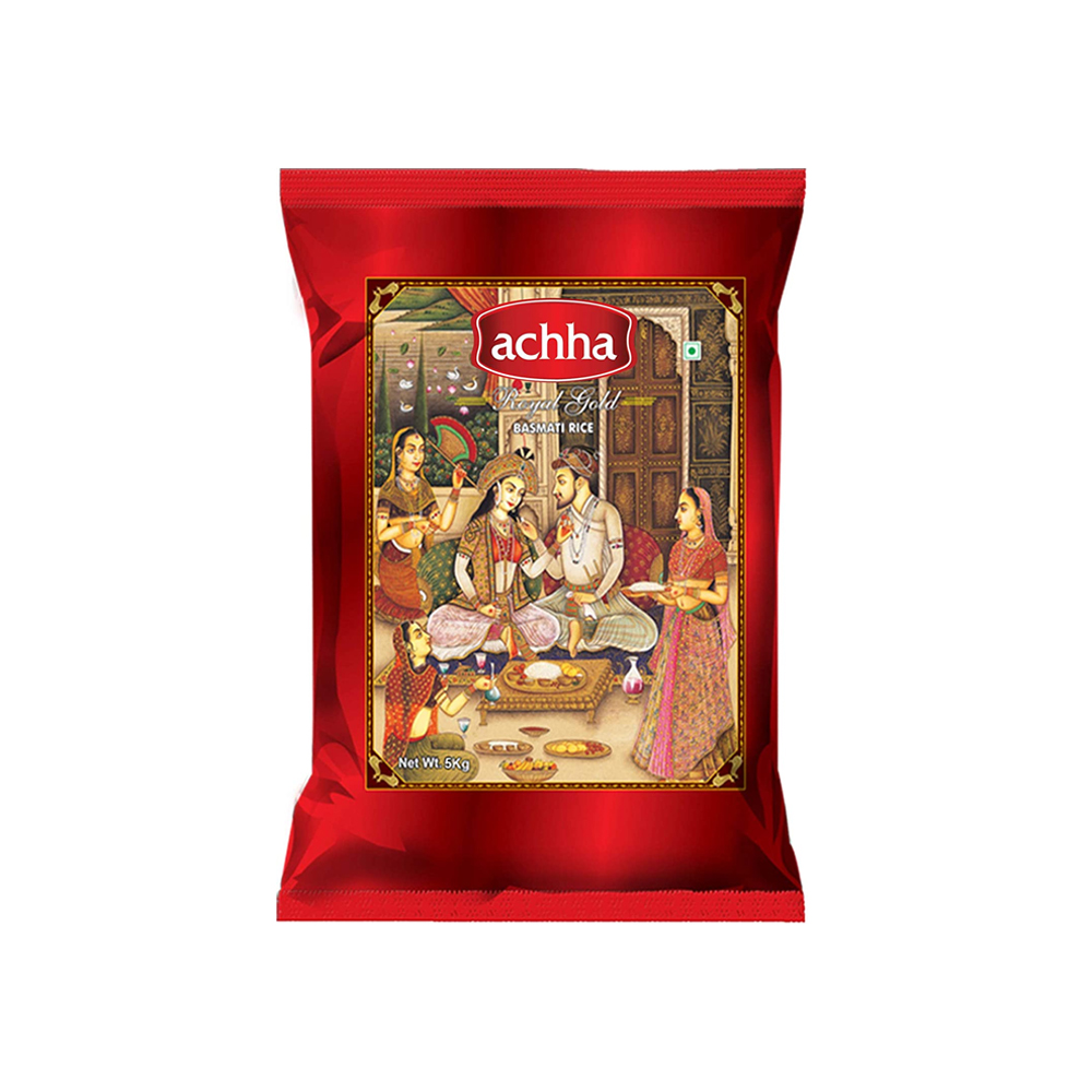 Achha Royal Gold Basmati Rice, 5KG Buy 1 Get 1 FREE