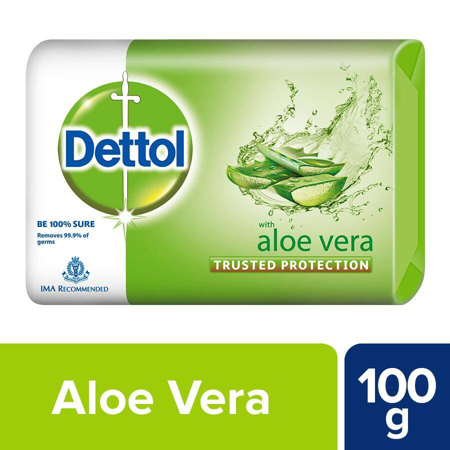 Dettol Bathing Bar Soap – Aloe Vera, 100 g