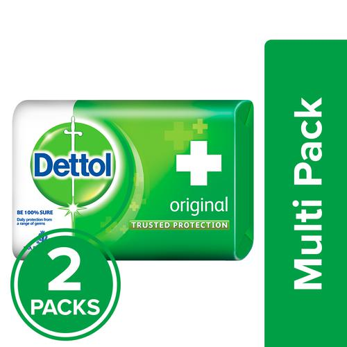 Dettol Bathing Soap – Original, 2×125 g Multipack